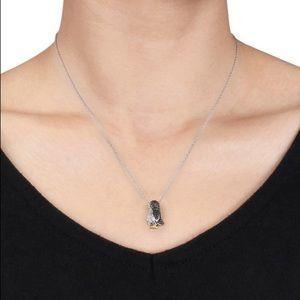 Jewelry - Black Diamond Penguin Necklace Sterling Silver 🐧